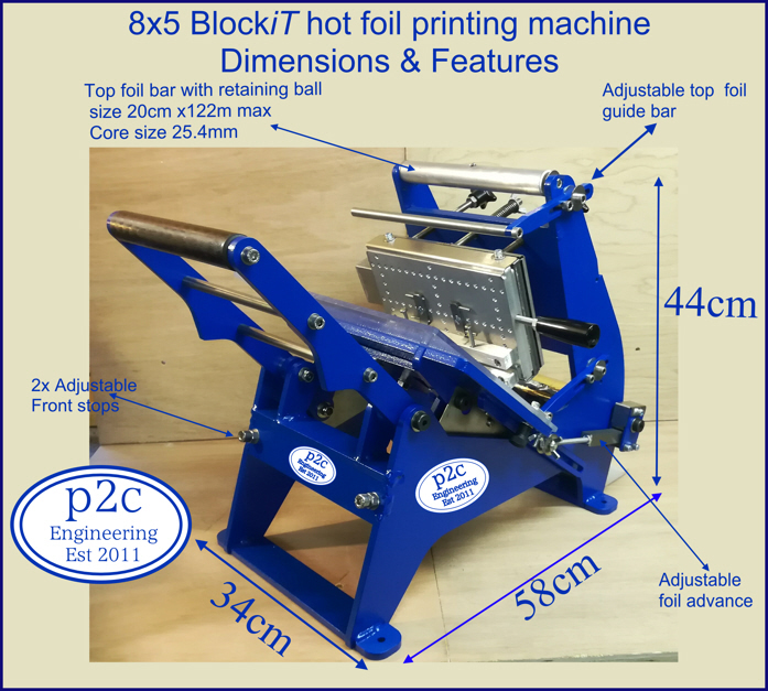 8x5 Blockit hot foil printing machine+Letterpress type personalising printing package 1