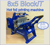 8x5 Blockit hot foil stamping machine Basic colour BLUE 10% discount, enter (p2c 12.5%) at checkout