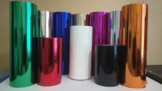 Blocking foil: Gold,silver,red,blue,rose gold,magenta,10 Colours available in 3 different sizes