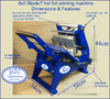 8x5 Blockit hot foil printing machine+Letterpress type-personalising printing package 1